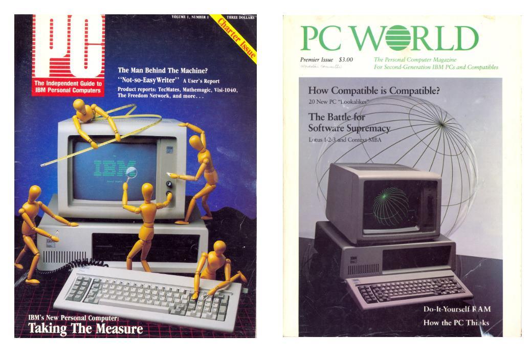 2df0b3342dc49 I primi numeri di due famose riviste di informatica personale dedicate a  quello che forse è stato il prodotto IBM che più ha influenzato  l informatica ...
