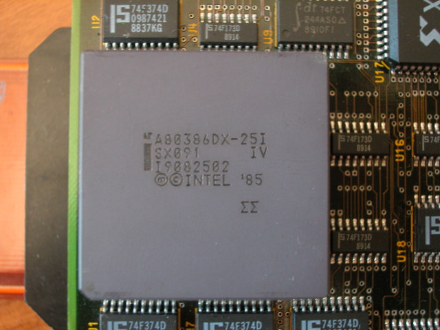 Intel A80386DX-25i IV no logo detail